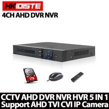 4Ch Full HD 1080N AHD-NH Real time 4 Channel CCTV 720P AHD DVR AHD-M Hybrid DVR NVR 5in1 Video Recorder For AHD&IP&Analog Camera