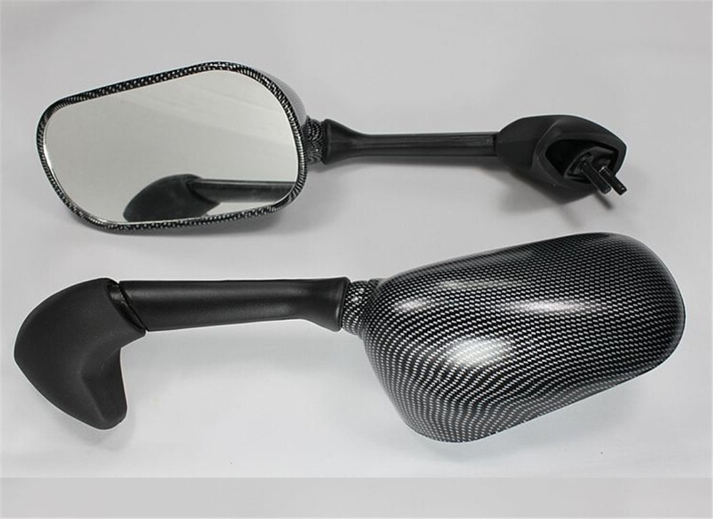 One Pair Motorcycle Bike Side Left Right Mirror Rearview Mirrors For R1 2000-2001 Carbon Fiber