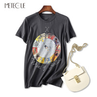 Mystery Tarot Series Print O Neck T Shirt Women Casual 100 Washed Cotton Short Sleeve T