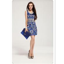Женское короткое платье с блестками летнее жилет цветочной вышивкой