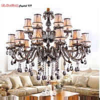 Modern Crystal Chandelier lighting Smoky grey Crystal Chandeliers Large Chandelier lighting Bedroom living room lights lighting