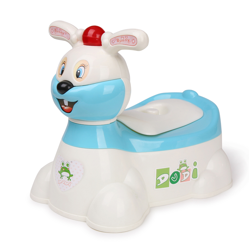 Infant Toilet Potty Training Chair Seat Lovely Rabbit Musical Potty Toilet Plastic Baby Toilet Trainer Seat Portable Potty Chair penguin style baby potty toilet trainer