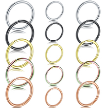 Mixed 5 Colors 20G Fake Nose Ring Septum Helix Piercing Stainless Steel Tragus Earrings Labret Body Jewelry