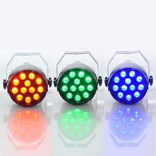 LED Par RGB Stage Light With DMX512 for disco DJ projector machine Party Decoration Lighting 18W 3 in1 12Led