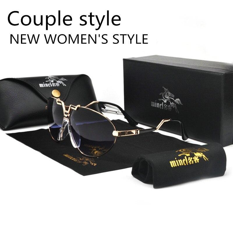 MINCL/New Style 2019 Luxury Brand Designer Sunglasses Men Vintage Oversized Glasses Man NX 5