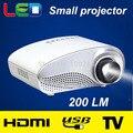 200 настоящее Люмен домашний кинотеатр мини ПРИВЕЛО проектор full HD 480*320 разрешение портативный 3D proyector пико micro LCD видео проектор