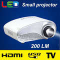 Real de 200 Lumens home theater mini LED projetor full HD 480*320 resolução portátil 3D proyector pico micro tv LCD vídeo beamer