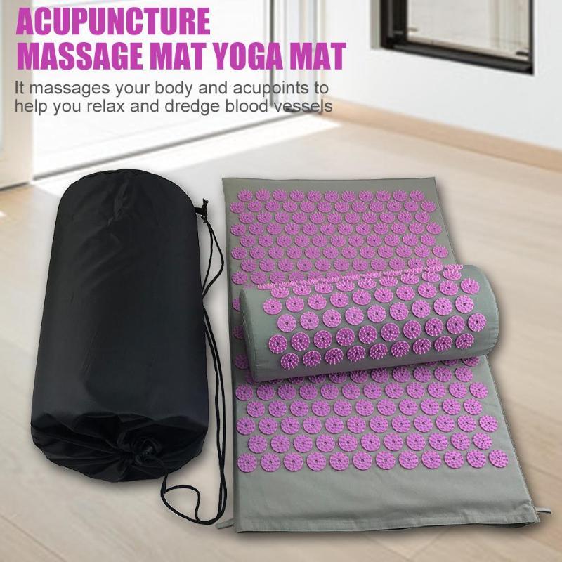 Massager Cushions Acupressure Mats Pillow Yoga Mats Relieve Back Pain Spike Mat Head Neck Back Foot Anti-stress Needle Massager