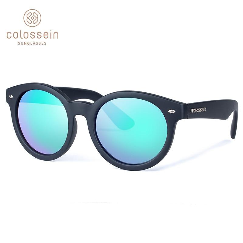 COLOSSEIN Solbriller Kvinner Polarisert Mote Solbriller Retro Runde Polarisert Lens Eyewear Voksen Populære 2018 Holiday Glasses