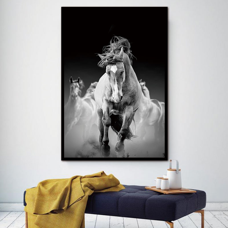 BANMU Animal Decorative Horses Pictures New HD Printed Canvas Wall Art Home Decor Modular Paintings For Living Room in Painting Calligraphy from Home Garden