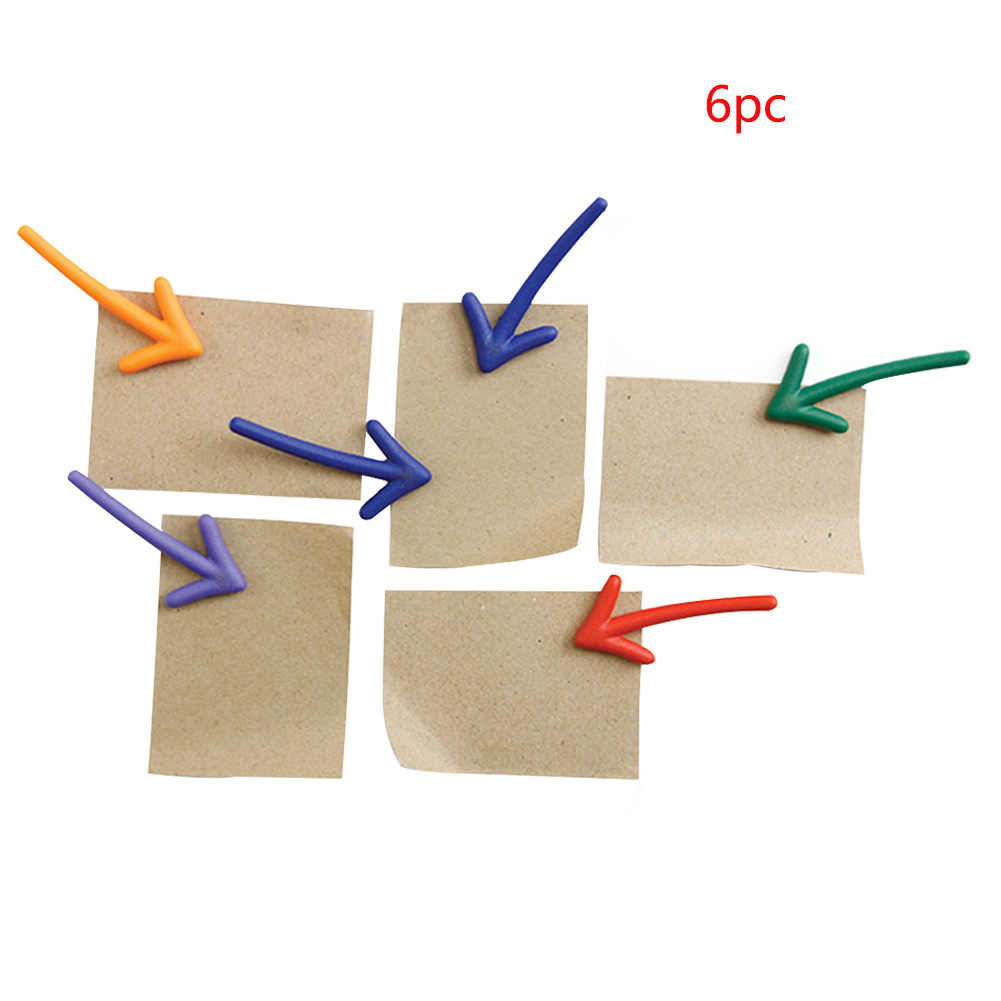 6pcs Fridge Magnet Arrow Magnetic Stickers Practical Whiteboard Accessaries Refrigerator Board Message Durable Colorful Portable