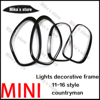 ABS For Mini Cooper countryman R60 car styling Rear Tail Lights+Head Lamps Rims Surrounds Covers car styling (4 Pcs/set)