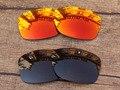 Красный огонь и Медно-Коричневого 2 Пар Поляризованных Сменные Линзы Для Юпитера Squared Солнцезащитные Очки Рама 100% UVA и UVB Защиты