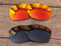 Fire Red & Copper Brown 2 Pairs Polarized Replacement Lenses For Jupiter Squared Sunglasses Frame 100% UVA & UVB Protection