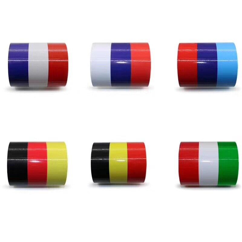 Estilo do carro adesivos rússia frança alemanha itália bandeira três-cor listra decoração do corpo do carro adesivo decalque acessórios do carro
