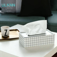 Creative Lattice Wood Tissue Box Multi Function Seat Type Removable Tissue Storage Box Home Decorative Table Tissue Canister