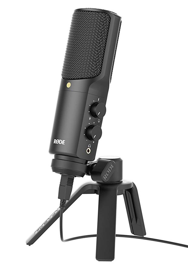 Original Rode  NT-USB Professional Condenser Recording Microphone USB Computer Mic Support Ios With Pop Filter And Table Stand