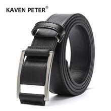 New Design Men s Faux Leather Belt Without Holes Men Pu Leather Belt Fashion Strap Male
