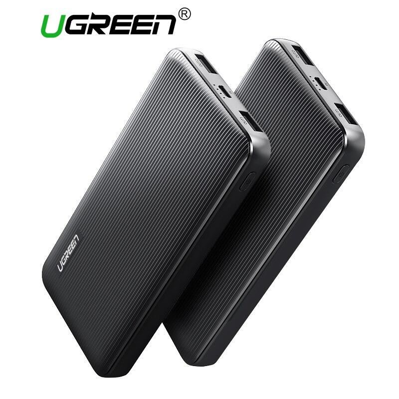 Ugreen Banca di Potere 10000 mAh Dual USB Powerbank per Xiaomi Batteria Esterna Caricatore Portatile per Telefoni cellulari Tablet Power-banca
