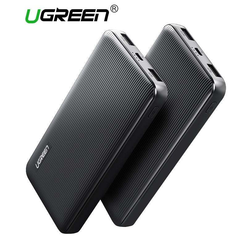 Ugreen Energienbank 10000 mAh Dual USB Power für Xiaomi Externe Batterie Tragbares Ladegerät für Handys Tabletten Power-Bank