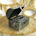 Metal moedas piggy presente de aniversário banco arca do tesouro do pirata