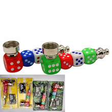 1pc Dice Rasta Weed Metal Pipe Tobacco / Smoke Pipe Plant Gifts Narguile Weed Grinder Herbs Were Shipped
