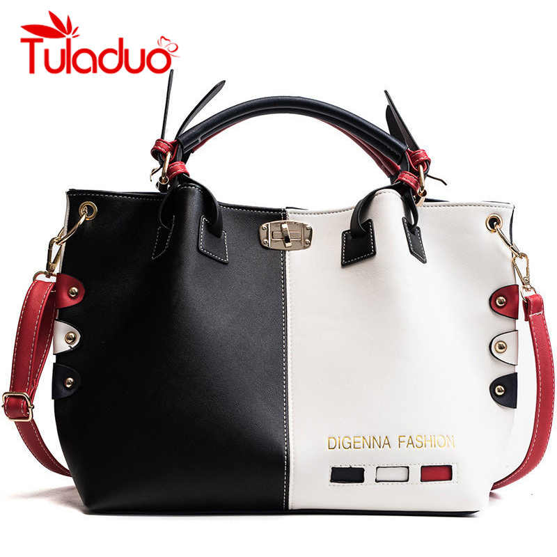 TULADUO Brand Handbags Women Bags PU Leather Shoulder Bags For Women 2018  Large Capacity Bucket Ladies 597f18dc5c
