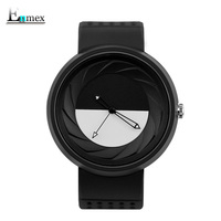 2017 Neutral Watch Enmex Day And Night Creative Design Camera Len Concept Wristwatch Sports Casual Fashion