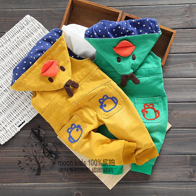 Frete grátis primavera outono masculino criança do sexo feminino denim calças jardineiras bebê encapuzados calças jardineiras casuais
