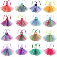 2018 Kids Girls Rainbow Dress Princess Suspender Tutu Dresses Ball Gown Children Summer Clothing Wedding Party Dress Decor