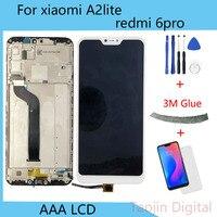 """5.84 """"Original LCD Für Xiao mi mi A2 Lite Display Touchscreen Digitizer Montage Für Xiao mi Red mi 6 Pro LCD mi A2 Lite Display-in Handy-LCDs aus Handys & Telekommunikation bei"""