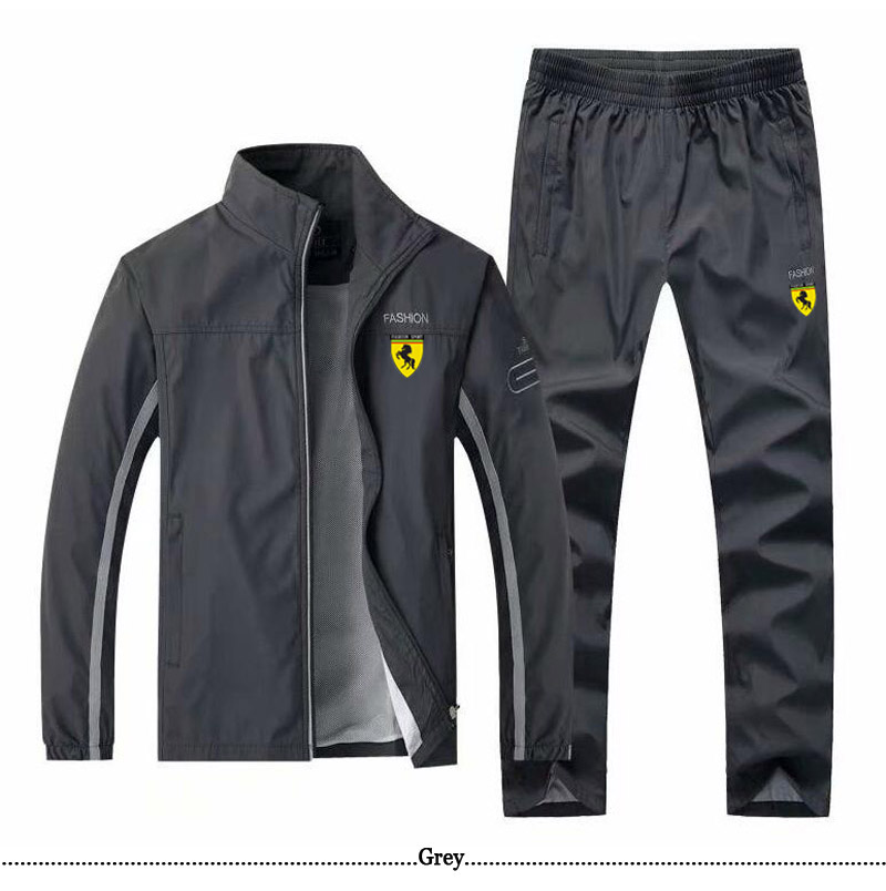 Men Track TrackSuit Sport Thin Jacket Coat Top Suit Set Trousers Pants Sweats Suits Sportwear Fall Spring Sweatshirt