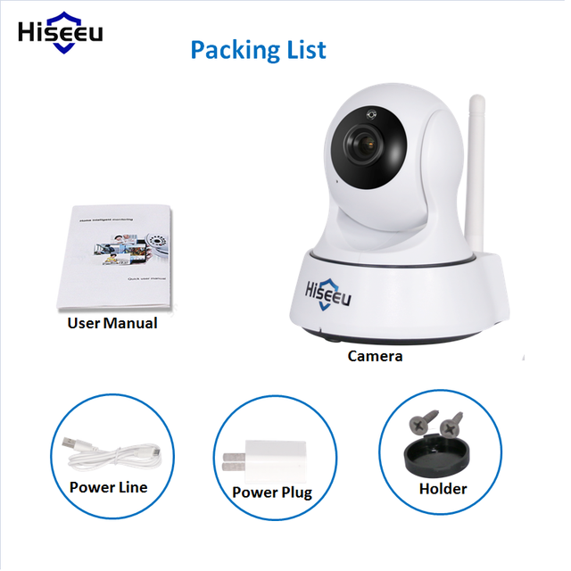 Mini Wireless IP Camera Wifi 1080P 720P Option Smart Night Vision Surveillance Onvif Network CCTV Security Camera wi-fi hiseeu