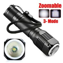 MA 21 Shining Fast Shipping LED Light  4000LM Zoomable CREE XML Q5 LED 18650 Flashlight Torch Zoom Lamp Light 3 Mode