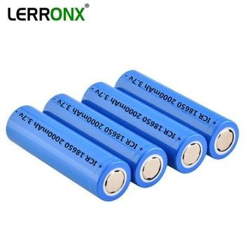 LERRONX Lithium 3.7V 2.0Ah 18650 Rechargeable battery  for Flashlight Headlight Power Electronic Equipments Li-ion ICR18650