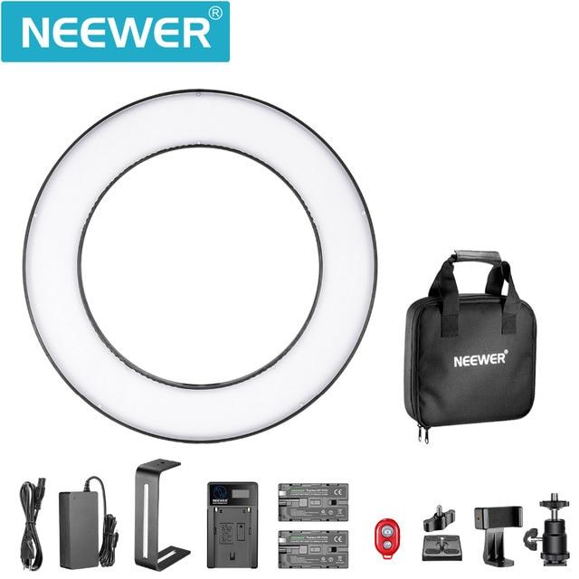 Resultado de imagen de Neewer Bicolor SMD LED Luz de Anillo Kit