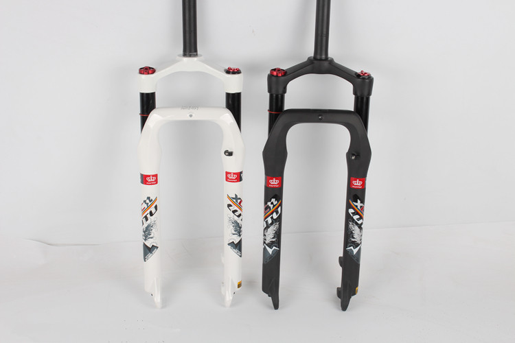 26 Inch Snow Bike Fork Fat Bicycle Forks Air Gas Locking Suspension Forks For 4 0