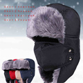 2014 New Winter fur hats Outdoor Windproof Thick warm winter snow women cap Face Mask men's cycling hat
