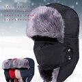 2014 Novos chapéus de pele de Inverno Ao Ar Livre À Prova de Vento quente Grossa neve do inverno das mulheres cap Máscara Facial ciclismo chapéu dos homens