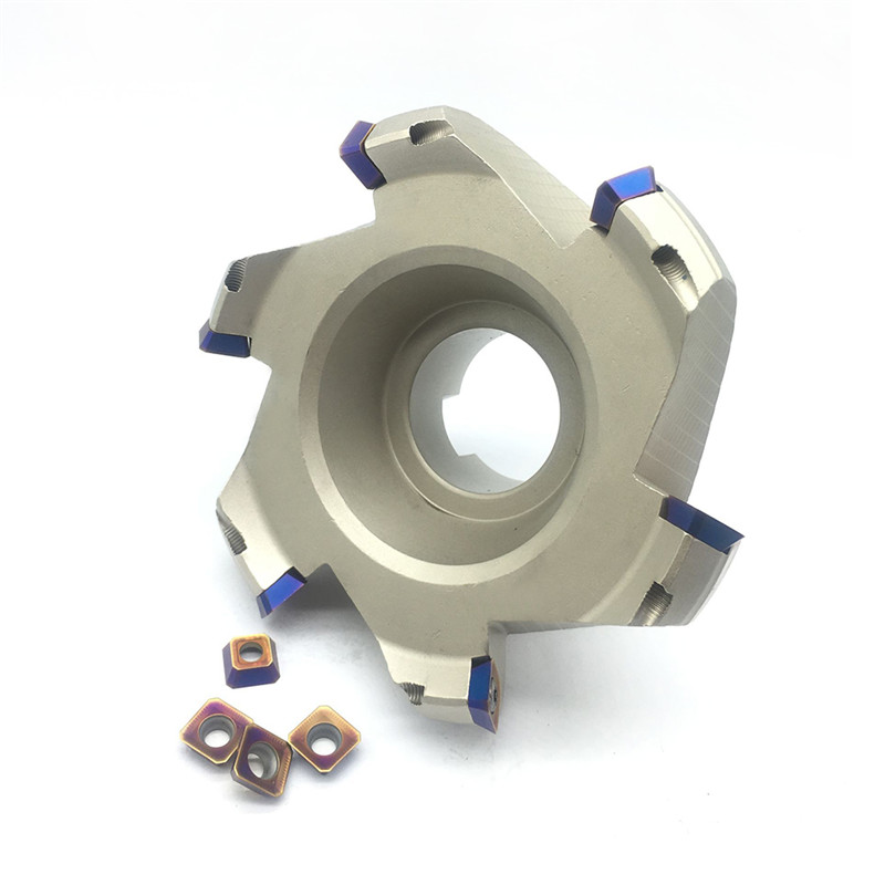 SEKT1204 10pcs Carbide Inserts +1pcs KM12 125 40 6T Milling Cutter Carbide Insert Face Mill Cutting Top Endmill