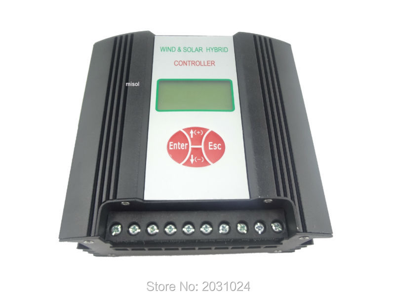 24VDC input 600W Hybrid Wind Solar Charge Controller , Wind regulator hybrid wind solar charge controller 600w regulator 48vac input wind charge controller