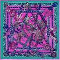 The Unicorn Song Of The French Big Wind Lady New Spring Silk Twill Shawl Scarf 130cm