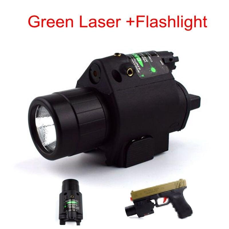 Tactique M6 Vert Visée Laser + LED lampe de Poche Chasse Tir Pistolet Laser Lumière Laser Pour Pistolet 20mm Rail Utiliser