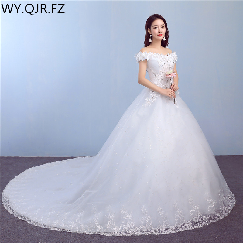 LYG-TH82#Diamante tail 2018 summer autumn new lace up wedding party prom   dress   Sweet Princess high-grade long   Bridesmaid     Dresses