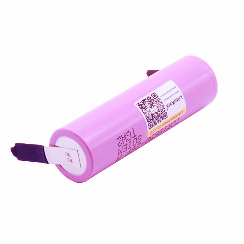 Liitokala New 100% Original 18650 2600mAh battery For Samsung ICR18650-26FM Li-ion 3.7 V rechargeable battery+ DIY Nickel sheet