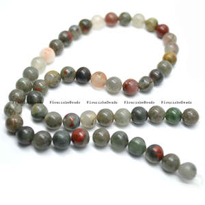 jennysun2010 4x6mm Natural Matte African Blood Stone Gemstones Rondelle Spacer Loose Beads 15.5 inches 1 Strand for Necklace Earrings Jewelry Making Crafts