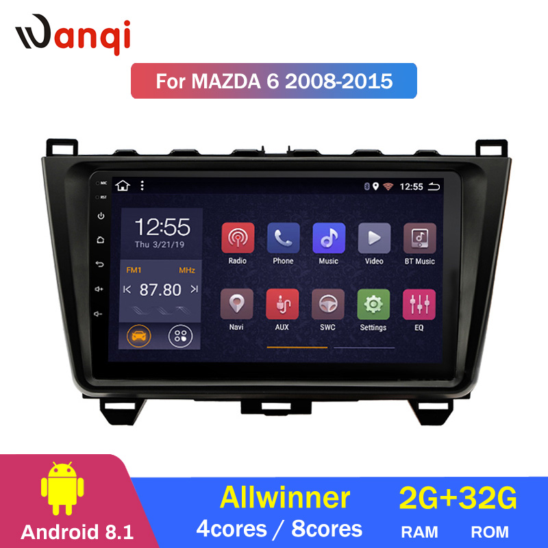 2G RAM 32G ROM Multimedia Player GPS Navigation Car Radio Android 8.1 For Mazda 6 Rui wing 2008-20152G RAM 32G ROM Multimedia Player GPS Navigation Car Radio Android 8.1 For Mazda 6 Rui wing 2008-2015