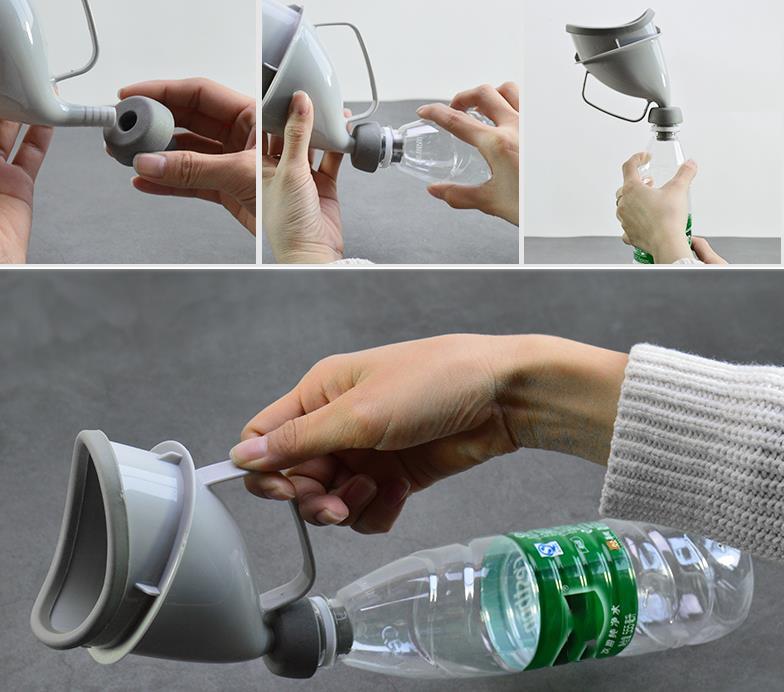 Portable Car Handle Urine Bottle Urinal Travel Camp Urination Device Pee Xa