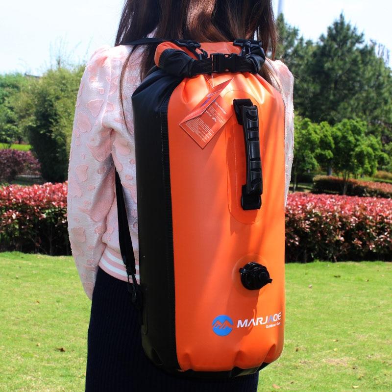 30L Big Capacity Portable 4 Colors Dry Bag Waterproof Backpack River Trekking Outdoor Swimming Inflatable Ocean Bag  Men Women
