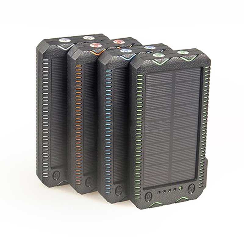 For <font><b>XIAOMI</b></font> Powerbank <font><b>15000mAh</b></font> Portable Solar <font><b>Power</b></font> <font><b>Bank</b></font> Dual USB External Solar Battery Charger Pack for Iphone Phone PS3 image